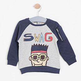 Erkek Çocuk Sweatshirt Gri Melanj (1-7 yaş)