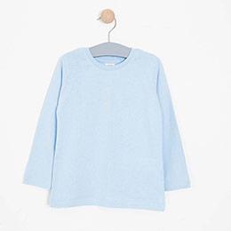 Erkek Çocuk Uzun Kol Tişört Mavi (3-12 yaş)