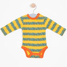 Erkek Bebek Uzun Kol Badi Sarı (0-2 yaş)