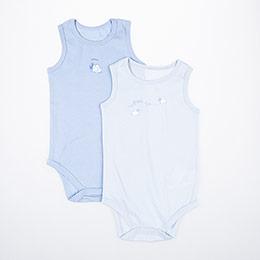 Erkek Bebek İkili Badi Açık Mavi (0-2 yaş)