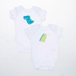 Erkek Bebek İkili Badi Beyaz (0-2 yaş)