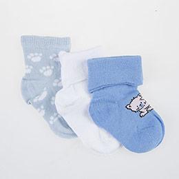 Erkek Bebek Üçlü Çorap Mavi (14-16 numara)