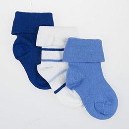 Erkek Bebek Üçlü Çorap Beyaz (14-16 numara)