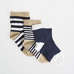 Erkek Bebek Üçlü Çorap Hardal (17-22 numara)