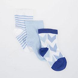 Erkek Bebek Üçlü Bilek Üstü Çorap Krem (17-22 numara)