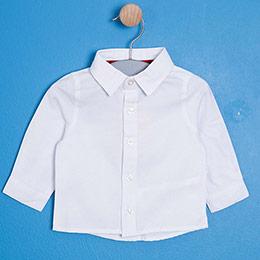 Erkek Bebek Uzun Kol Gömlek Beyaz (0-3 yaş)