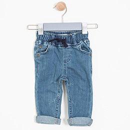 Erkek Bebek Pantolon Mavi (0-3 yaş)