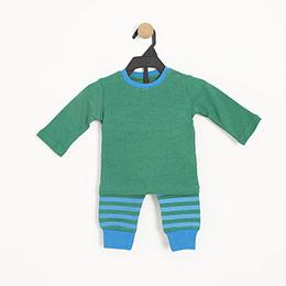 Erkek Bebek Pijama Takımı Yeşil (0-2 yaş)