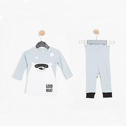 Erkek Bebek Pijama Takımı Açık Mavi (0-2 yaş)
