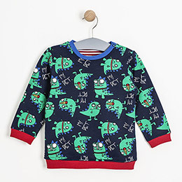 Erkek Bebek Sweatshirt Lacivert (0-2 yaş)