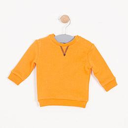 Erkek Bebek Sweatshirt Oranj (0-2 yaş)