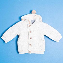 Erkek Bebek Sweatshirt Açık Gri Melanj (0-2 yaş)