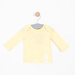 Erkek Bebek Uzun Kol Tişört Sarı (0-2 yaş)