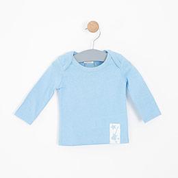 Erkek Bebek Uzun Kol Tişört Açık Mavi (0-2 yaş)