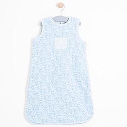 Erkek Bebek Uyku Tulumu Açık Mavi (56-68 cm)