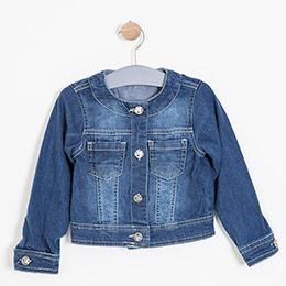 Kız Çocuk Ceket İndigo (3-12 yaş)