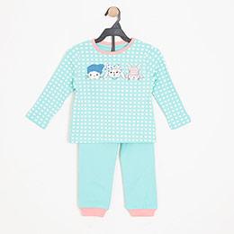 Kız Çocuk Pijama Takımı Açık Mavi (3-7 yaş)