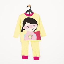 Kız Çocuk Pijama Takımı Sarı (3-7 yaş)