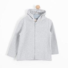 Kız Çocuk Sweatshirt Açık Gri Melanj (3-12 yaş)