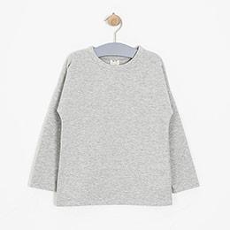 Kız Çocuk Sweatshirt Açık Gri Melanj (3-7 yaş)