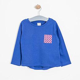 Kız Çocuk Uzun Kol Tişört Mavi (2-7 yaş)
