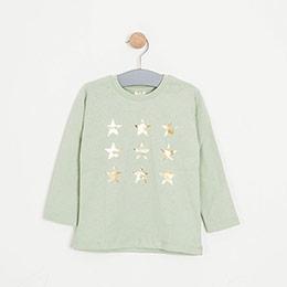 Kız Çocuk Uzun Kol Tişört Yeşil (3-7 yaş)