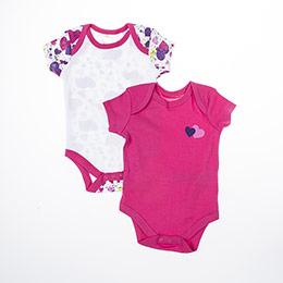 Kız Bebek Üçlü Badi Fuşya (0-2 yaş)