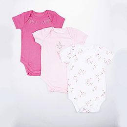 Kız Bebek Üçlü Badi Pembe (0-24 ay)