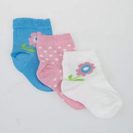 Kız Bebek Üçlü Bilek Üstü Çorap Turkuaz (14-16 numara)