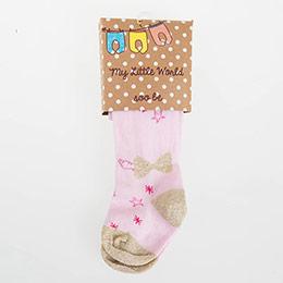 Kız Bebek Külotlu Çorap Pembe (14-16 numara)