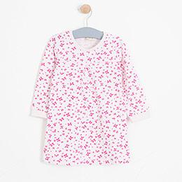 Kız Bebek Elbise Mat Pembe (0-2 yaş)