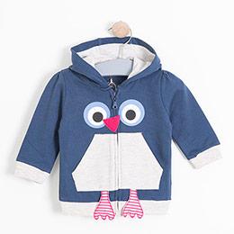 Kız Bebek Sweatshirt İndigo (0-2 yaş)