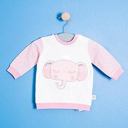 Kız Bebek Sweatshirt Ekru (0-2 yaş)