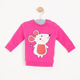 Kız Bebek Sweatshirt Fuşya (0-2 yaş)