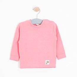 Kız Bebek Sweatshirt Şeker Pembe (0-2 yaş)