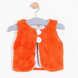 Kız Bebek Peluş Yelek Kırmızı (56-98 cm)