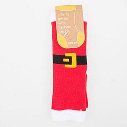 Çocuk Yılbaşı Çorabı Kırmızı (27-34 numara)