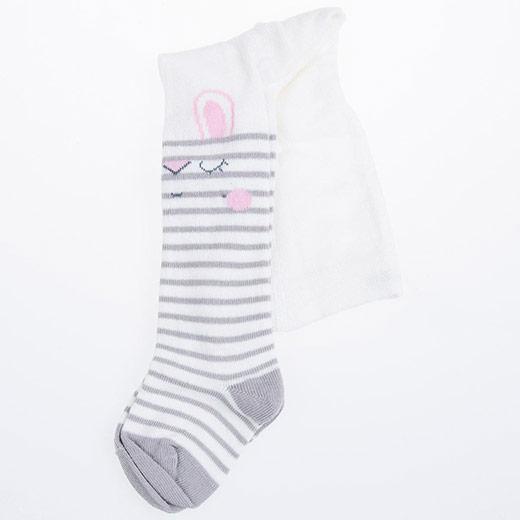 Kız Bebek Külotlu Çorap Ekru (17-22 numara)