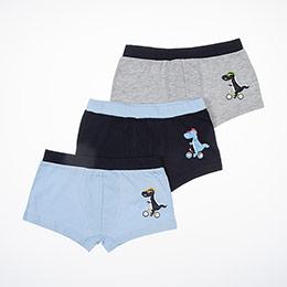 Erkek Çocuk Üçlü Boxer Set Lacivert (1-12 yaş)