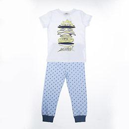 Erkek Çocuk Pijama Takımı Mavi (3-12 yaş)