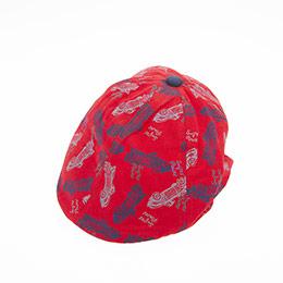 Erkek Çocuk Kasket Şapka Kırmızı (2-4 yaş)