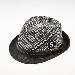 Erkek Çocuk Hasır Şapka Siyah (3-8 yaş)