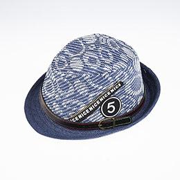 Erkek Çocuk Hasır Şapka Lacivert (3-8 yaş)