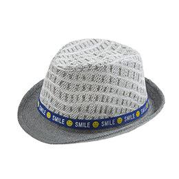 Erkek Çocuk Hasır Şapka Gri (3-8 yaş)