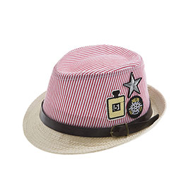 Erkek Çocuk Hasır Şapka Kırmızı (3-8 yaş)
