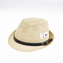 Erkek Çocuk Hasır Şapka Koyu Bej (3-8 yaş)