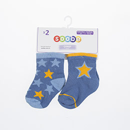 Erkek Bebek İkili Çorap Petrol (14-22 numara)