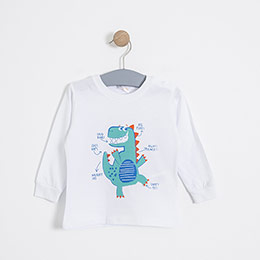 Erkek Bebek Pijama Takımı Saks (56 cm-2 yaş)