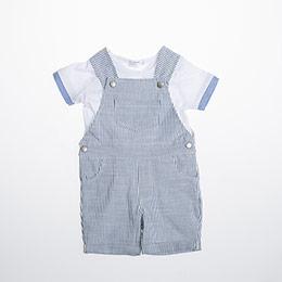 Erkek Bebek Tulum Set Mavi (0-2 yaş)