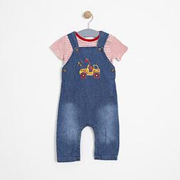 Erkek Bebek Tulum Set Lacivert (0-2 yaş)